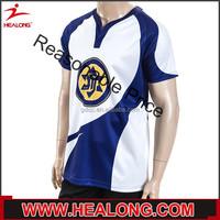 Healong Dye Sublimated Latest Design Deep Blue Men'S Polo T-Shirt