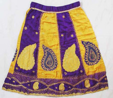 Tela Vintage Boho largo de la india Banjara flecos falda