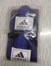Blue with Black Weightlifting Wrist Wraps/ Neoprene padded gym lifting strap/ Gym straps / Fitness straps