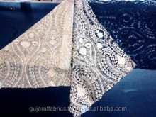 Embroidery Lace for Women's clothing garment Saree beach wear wedding/ kaftan embroidered fabric/ party dress fabric lace