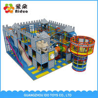Kids New Style Soft Indoor Playground For Sale with long slide and tube