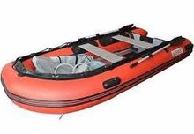 Aleko Inflatable Boat 10.5ft With Aluminum Floor 4 Person Raft Fishing