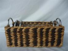 Ecofriendly, colo rwater hyacinth basket, wicker basket, fruit basket, high quality, made in Vietnam set of 3