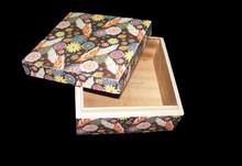 LEAF & FLOWER DIGITAL PRINT WOODEN BOX