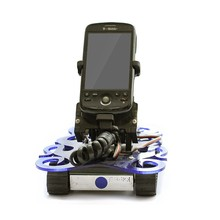 Movable smartphone and tablet holder. Small wheel drone - Antbot