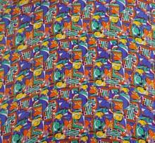 Rayon tecido Tribal imprimir 44 grande tecido costura costura vestido pelo estaleiro
