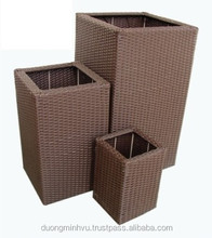 modern design garden flower planter Set of 3pcs/metal frame/water hyacinth/natural material/3pcs planter basket set DMV-227