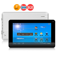 Ployer MOMO9 Dual Core III Tablet PC w/ Allwinner A23 7.0 Inch 512MB+8GB - Black + White