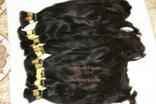 Hot trend 2015 bulk straight natural hair no chemical unprocessedremy hair