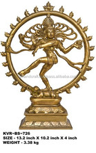 statue of Nataraja in gold finish- King of dancers