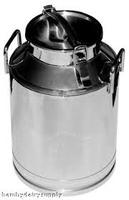 decorative mini galvanized milk can