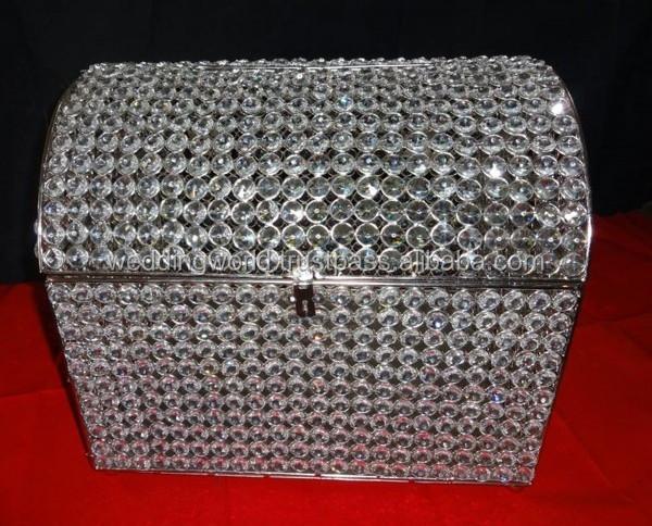 crystal wedding card box heart shape card box buy handmade