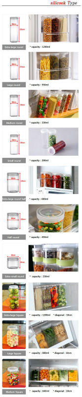Silicook Fridge Storage Container Cylinder A Set Buy