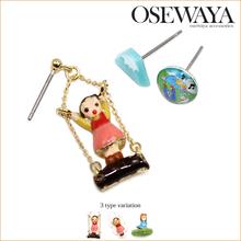 cartoon figure charm unique earrings for teen dresses