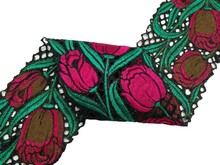 Fabric Trim Embroidered Sari Border Indian Lace 5 Cm Wide Crafting Trims By The Yard