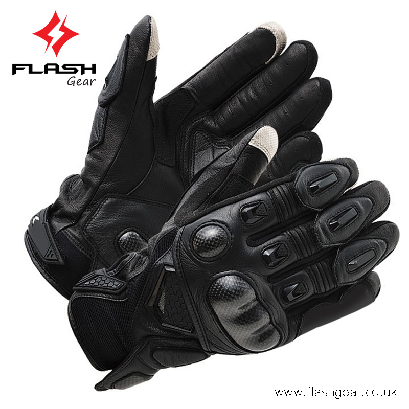 MOTORBIKE MOTORCYCLE GLOVES LEATHER MOLDED KNUCKLES PROTECTION