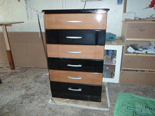 6 drawer 2 toned chest of drawers