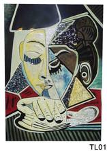 Dolore volto di donna lacca dipinti a mano, lacca dipinti arte della parete