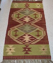 Handloom Flower Design Customized Traditional Wholesale Far Infrared Health Care Kilim Carpet / Winter Wool Heating Kilim Carpet