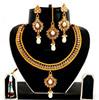 Indian Polki Pearl Necklace Set-Wholesale Pearl Necklace Set-Indian Imitation Jewelry-Indian Traditional Polki Jewellery