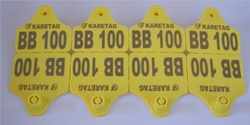Ear Tag For Cattle with metal headed and with metal segments green