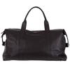 Full Grain Black Customized Genuine Leather Travel Bag