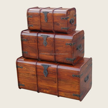 solid wooden trunks & boxes for store room for cloths and other things