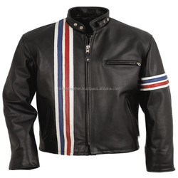 BLUE , WHITE , RED LEATHER MOTORBIKE JACKETS / RACER JACKETS