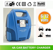 4A Car Lead Acid Battery Charger 6V/12V Switching CE ROHS