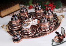 Turkish Coffee Set Copper Nescafe Set
