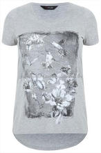 Chicwish Simple Batwing Smock Top in Gray White