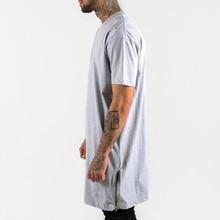 elongated t shirts - fashion Custom branded elongated t shirts with bottom leather - hight quality fashion design 100% cotton