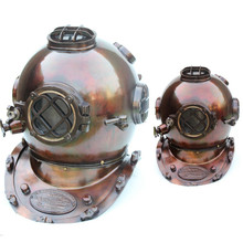 Copper finish diving helmet Table decor Indian Export marine goods