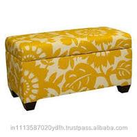 Elegant Home Furniture Yellow Upholstered Ottoman