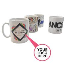 11oz custom logo ceramic sublimation photo mug cup with individual box packaging, plain blank white sublimation ceramic mug