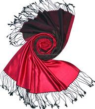 100% silk Scarf reversible / Double Colour Satin Weave