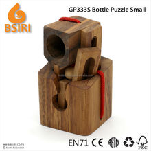 Promotional Wine Wooden Puzzle Case Bottle