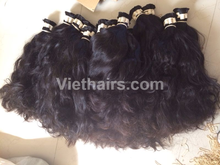 100% human hair vietnamese remy hair,wavy bulk natural soft raw unprocessed wholesale virgin hair