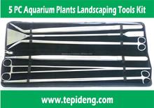 6Pieces Aquarium Plant Tools- SCISSORS TWEEZERS LEVELER for water plants fish tank of long size