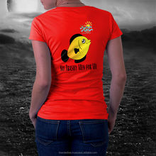 t-shirts women fashion shape printed compressed T-shirt