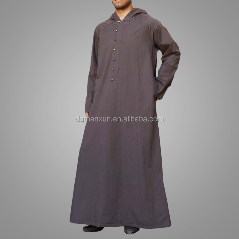 Latest muslim men hooded thobe cheap saudi men thobe4.jpg