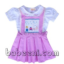Lovely Cinderella princess and carriage hand smocked girl set - BB336