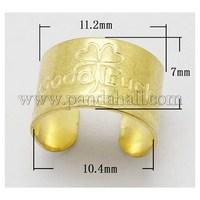 Brass Ring Shanks, Golden, 11.2x7mm, Inner Diameter: 10.4mm KK-N015-G