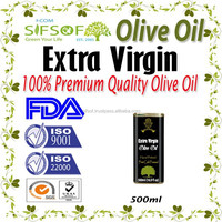 Cold Pressed Extra Virgin Olive Oil. A'Quality Extra Virgin. 100% Extra Virgin Olive Oil. metallic Tin 500 ml