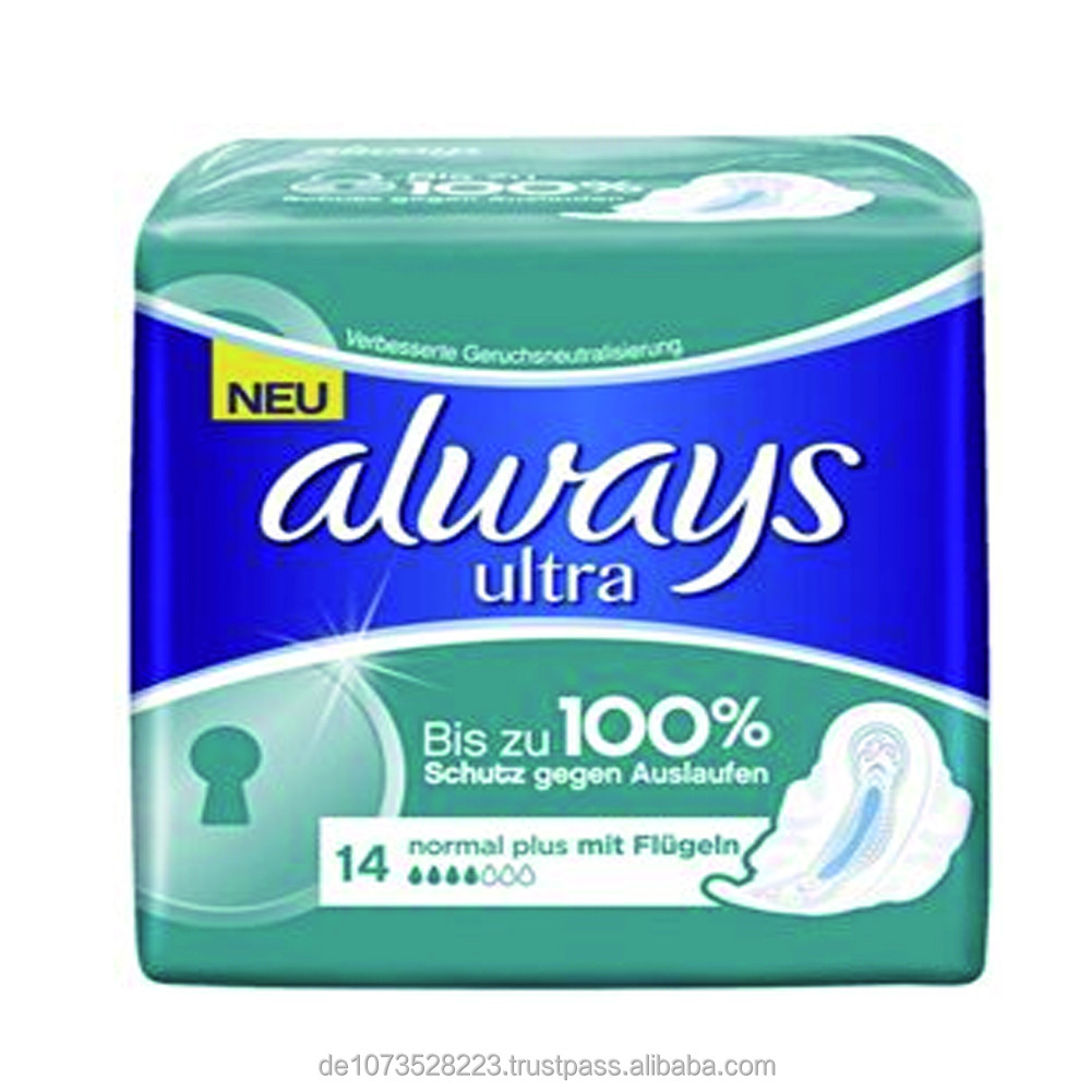 Always Ultra Long Plus With Wings Always Ultra Normal Plus Pads