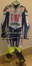 leather motorbike Suit 2015 Yamaha Fiat Rossi vr46