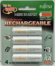 Fuji (1800times) Rechargeable Batteries AA