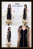 Long Jacket Velvet Anarkali Suit