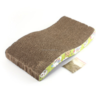 S Type Pet Cat Scratcher Scratching Post Pole Board Claw Bed Pad Catnip Toy
