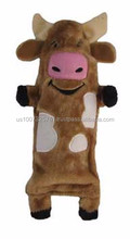 Water Bottle Buddies Cow Dog Toy